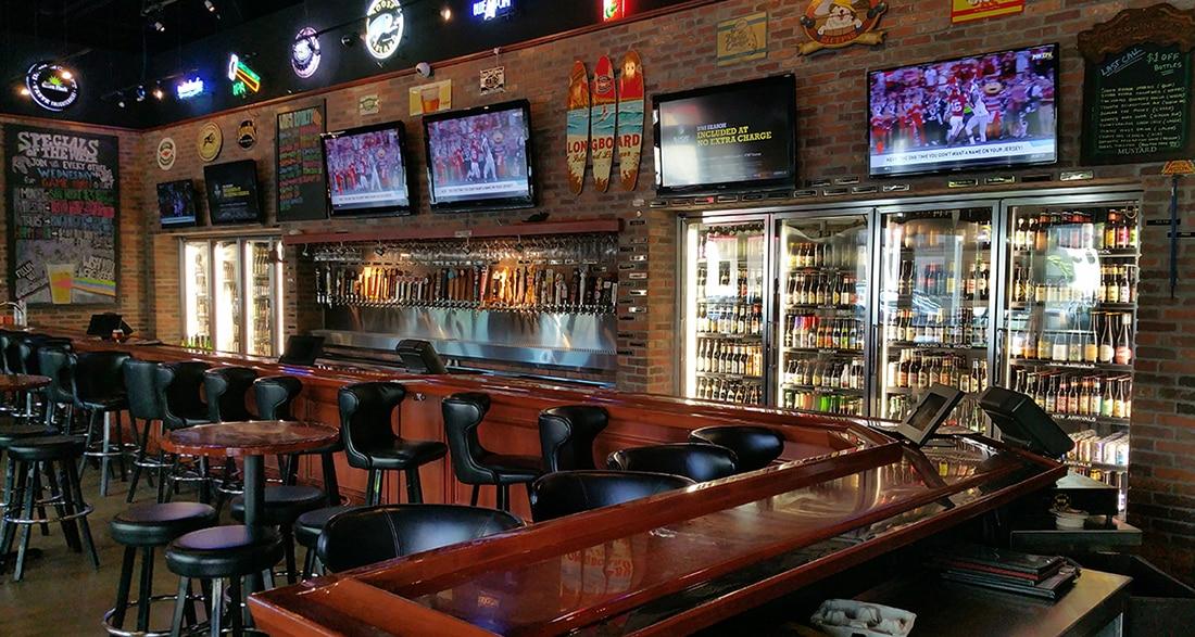 walk-in bar cooler