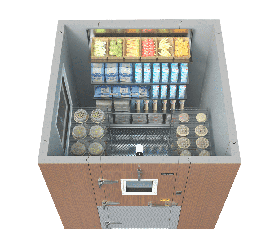 an example of good storage inside a walk-in freezer to avoid common mistakes